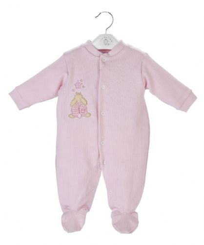 Rabbit & star cotton sleepsuit